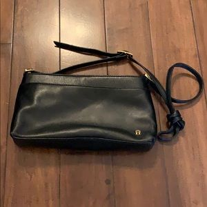 Etienne Aigner Genuine Black Leather crossbody bag